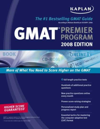Bestsellers (2007) - Kaplan GMAT 2008 Premier Program (w/ CD-ROM) (Kaplan Gmat (Book & CD-Rom)) by Ka