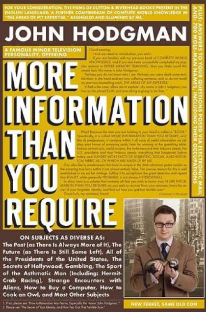 Bestsellers (2008) - More Information Than You Require by John Hodgman