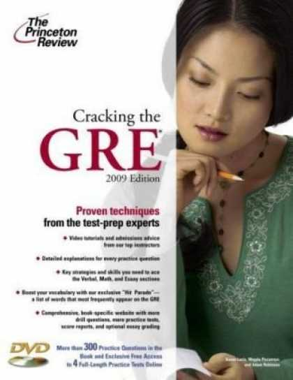 Bestsellers (2008) - Cracking the GRE with DVD, 2009 Edition (Graduate Test Prep) by Princeton Review
