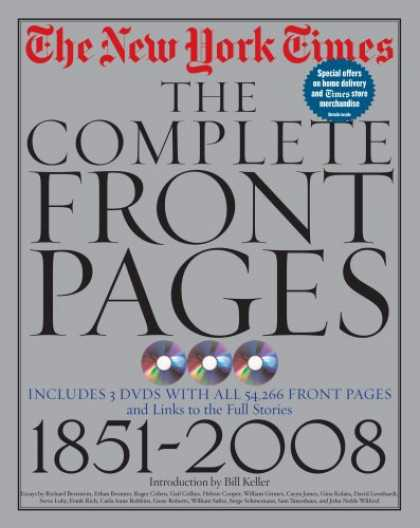 Bestsellers (2008) - The New York Times: The Complete Front Pages: 1851-2008 by CC The New York Times