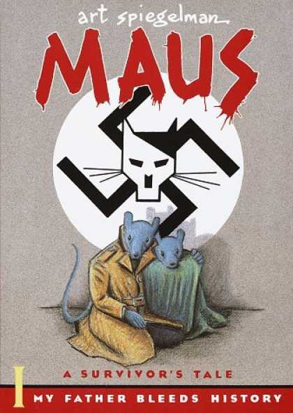 Bestselling Comics (2006) - Maus a Survivors Tale: My Father Bleeds History by Art Spiegelman - Art Spiegelman - Maus - Nazi - Swastica - Cat
