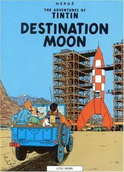 Bestselling Comics (2006) - Destination Moon (The Adventures of Tintin) by Herge - Destination Moon - Herge - Adventures Of Tintin - Rocket - Rocketship