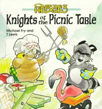 Bestselling Comics (2006) - Over the Hedge 3 Knights of the Picnic Table by Michael Fry - Over The Hedge 3 - Turtle - Racoon - Flamingo - Picnic Table
