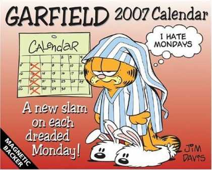 Bestselling Comics (2006) - Garfield 2007 Mini Day-to-Day Calendar by Jim Davis - I Hate Mondays - Jim Davies - Bunny Slippers - A New Slam On Each Dreaded Monday - Cat