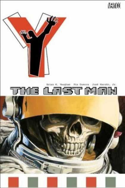 Bestselling Comics (2006) - Y: The Last Man Vol. 3: One Small Step by Brian K. Vaughan - Astronaut - Skull - Scary - Alone - Red