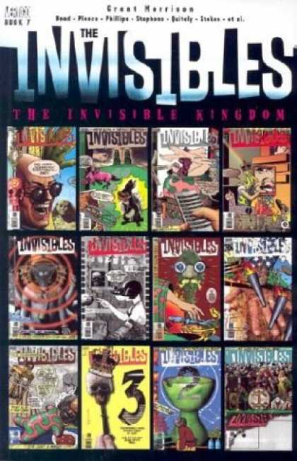 Bestselling Comics (2006) - The Invisible Kingdom (The Invisibles, Book 7) by Grant Morrison - Grant Morrison - Collection - Kingdom - Invisible People - Scary