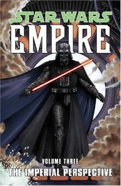 Bestselling Comics (2006) - The Imperial Perspective (Star Wars: Empire, Vol. 3) by Welles Hartley - The Force - Red Light Saber - Darth Vader - Smoke - Cape