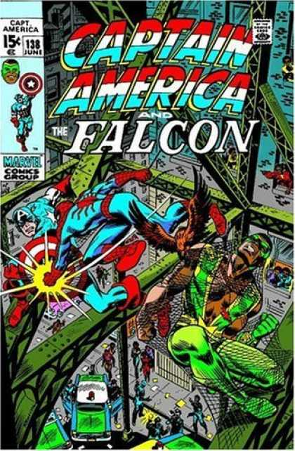Bestselling Comics (2006) - Essential Captain America, Vol. 3 (Marvel Essentials) by Stan Lee - Captain America - The Falcon - Girders - Web - Police