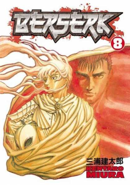 Bestselling Comics (2006) - Berserk Volume 8 (Berserk (Graphic Novels)) by Kentaro Miura - Kentaro - Miura - Spiked Bangs - White Cape - Flowing Hair
