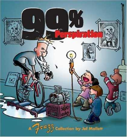 Bestselling Comics (2006) - 99 % Perspiration: Frazz Collection by Jef Mallett - Perspiration - Tired - Bike - Kids - Sweat