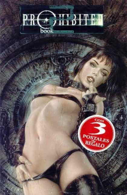 Bestselling Comics (2006) - Prohibited 2 (Prohibited, 2) by Luis Royo - Female Prisoner - Practically Nude - Chains - Brunette Woman - Spanish