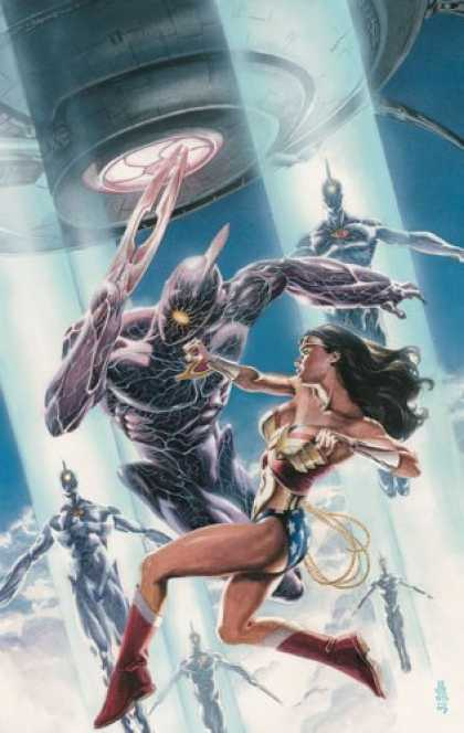 Bestselling Comics (2006) - Wonder Woman: Mission's End by Greg Rucka - Golden Lasso - Golden Bracelettes - Strong Woman - Metal Alien - Gold Headband
