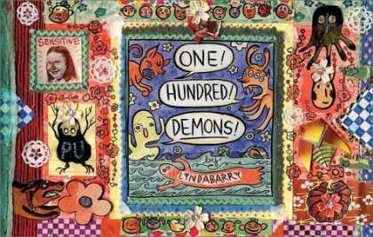 Bestselling Comics (2006) - One Hundred Demons (Alex Awards (Awards)) by Lynda Barry - Animal - Black - Cartoons - Dog - Flower