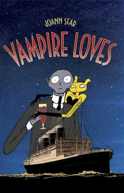 Bestselling Comics (2006) - Vampire Loves by Joann Sfar - Joann Sfar - Vampire Loves - Boat - Water - Bald Man
