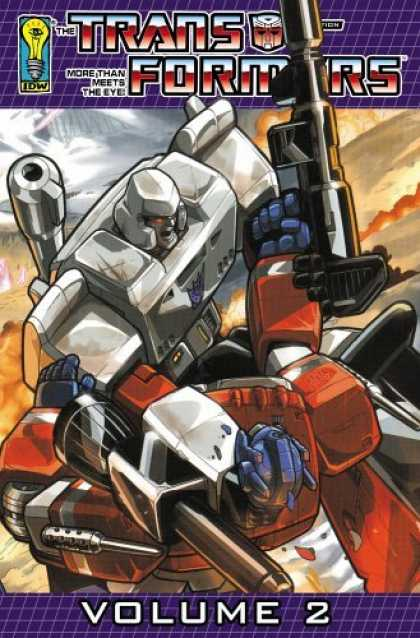 Bestselling Comics (2006) - Transformers: Generation One Volume Two (Transformers (Graphic Novels)) by Brad - Optimus Prime - Gun - Fighting - Volume 2 - Megatron