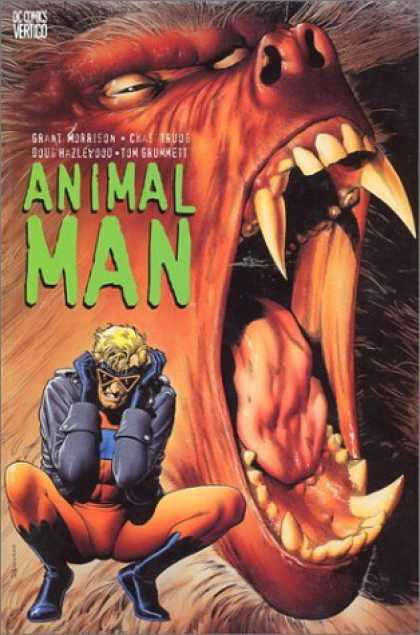 Bestselling Comics (2006) - Animal Man (Animal Man, Book 1) by Grant Morrison - Mouth - White Hair - Eyes - Hands - Spectacles