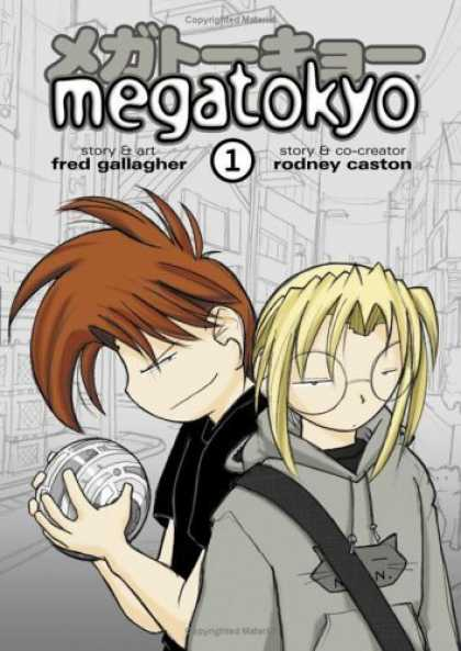 Bestselling Comics (2006) - Megatokyo, Vol. 1 by Fred Gallagher - Fred Gallagher - Rodney Caston - Brown-haired Boy - Blond-haired Boy With Glasses - Schoolboys