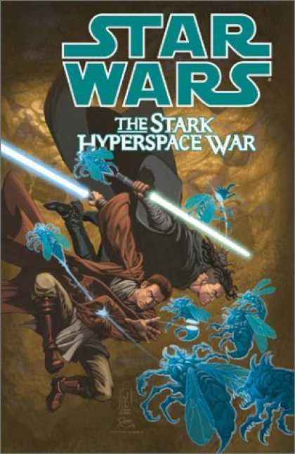 Bestselling Comics (2006) - The Stark Hyperspace War (Star Wars) by John Ostrander - Star Wars - The Stark Hyperspace War - Hyperspace - Blue Creatures - Light Saber