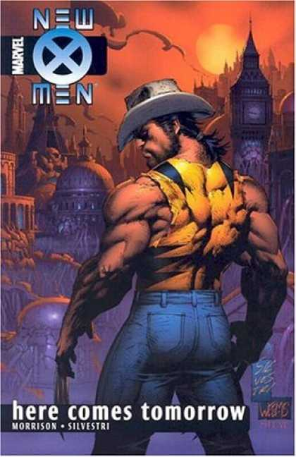 Bestselling Comics (2006) - New X-Men Vol. 7: Here Comes Tomorrow by Grant Morrison - Man - Cowboy Hat - Jeans - City - Here Comes Tomorrow