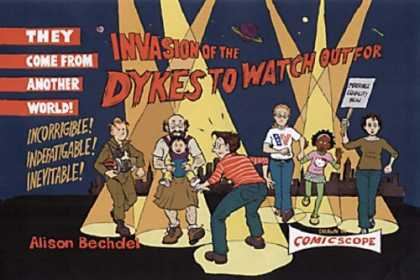 Bestselling Comics (2006) - Invasion of the Dykes to Watch Out For (Dykes to Watch Out for) by Alison Bechde - They Come From Another World - Incorrigble - Inevitable - Alison Bechdel - Comic Scope