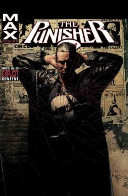 Bestselling Comics (2006) - Punisher MAX, Vol. 1 by Garth Ennis - Hands Behind Head - Black Trench Coat - Posters - Skull - White Circle On Shirt