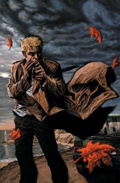 Bestselling Comics (2006) - Hellblazer: Empathy is the Enemy (Hellblazer (Graphic Novels)) by Denise mina - Storm - Blowing Leaves - The Ocean - Shore - Brown Trenchcoat