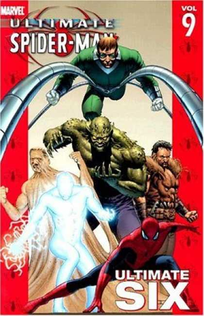 Bestselling Comics (2006) - Ultimate Spider-Man Vol. 9: Ultimate Six by Brian Michael Bendis - Green Goblin - Ultimate Six - Spider-man - Doc Oc - Silver Surfer