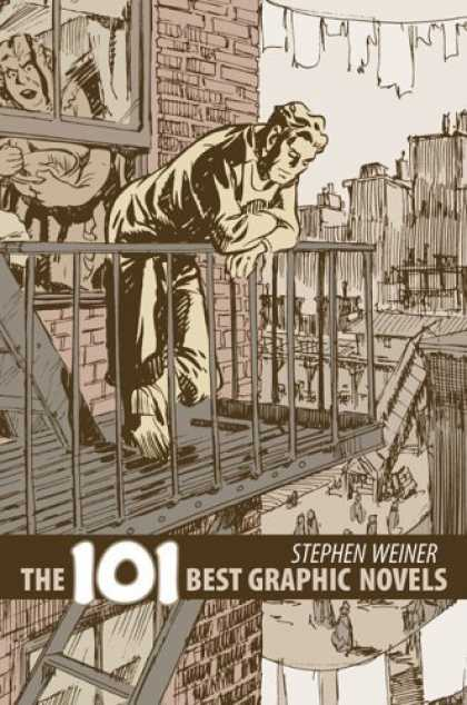 Bestselling Comics (2006) - The 101 Best Graphic Novels by Stephen Weiner - Clothes Line - Fire Escape Balcony - Window - Mixing Bowl - Ladder