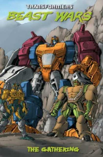Bestselling Comics (2006) - Transformers: Beast Wars: The Gathering by Simon Furman - Transformers - Beast Wars - The Gathering - Mountain - Sky