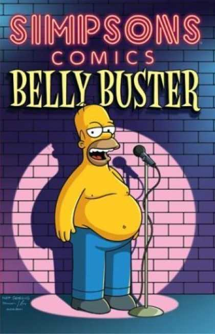 Bestselling Comics (2006) 1877 - Simpsons Comics - Belly Buster - Homer Simpson - Microphone - Brick Wall