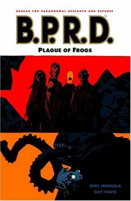 Bestselling Comics (2006) - B.P.R.D.: Plague of Frogs (B.P.R.D. (Graphic Novels)) by Mike Mignola - Frogs - Plague - People - Blue - Shadows