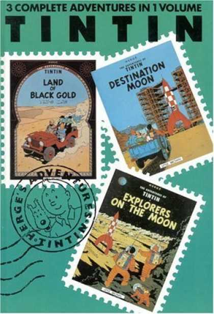 Bestselling Comics (2006) - Adventures of Tintin: Land of Black Gold / Destination Moon / Explorers on the M - Tintin - Destination Moon - Land Of Black Gold - Explorers On The Moon - Herges Adventures