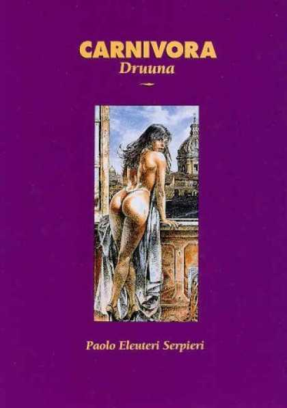 Bestselling Comics (2006) - Carnivora: Druuna by Paolo E. Serpieri - Pretty Lady - Ancient City - Womans Backside - No Clothes - Sheet Covering Front