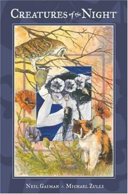 Bestselling Comics (2006) - Creatures Of The Night by Neil Gaiman - Owl - Cat - Poppies - Tree Branches - Woman