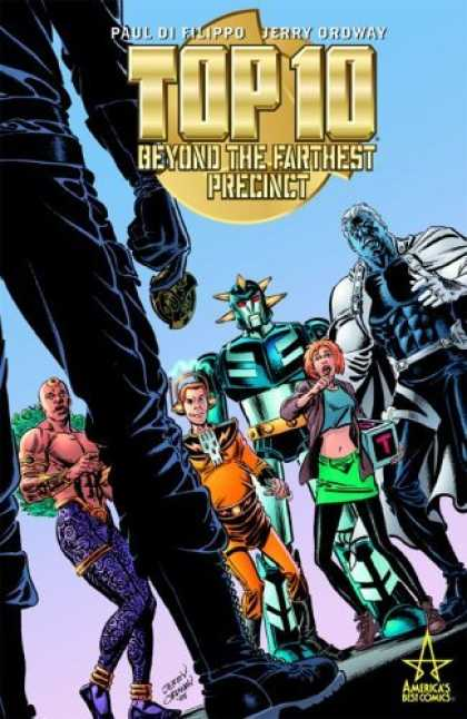 Bestselling Comics (2006) - Top Ten: Beyond the Farthest Precinct (Top Ten) by Paul Di Filippo - Beyond The Farthest Precinct - Robot - Lady - Black Human Image - In Hand
