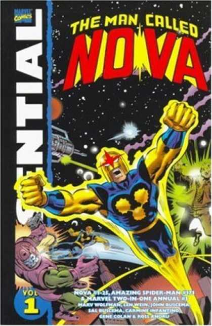 Bestselling Comics (2006) - Essential Nova Volume 1 TPB (Essential) by Marv Wolfman - Flying - Blue Costume - Muscles - Outer Space - Yellow Helmet