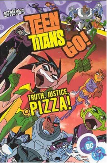 Bestselling Comics (2006) - Teen Titans Go!: Truth, Justice, Pizza! - Volume 1 (Teen Titans Go (Graphic Nove - Teen Titans Go - Truth Justice Pizza - Pointing Finger - Scream - Cartoon Network