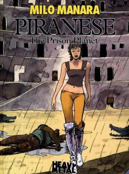 Bestselling Comics (2006) - Piranese: The Prison Planet by Milo Manara - Milo Manara - Piranese - The Prison Planet - Rain - Heavy Metal