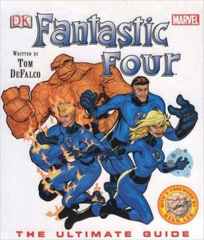 Bestselling Comics (2006) - Fantastic Four Ultimate Guide by Tom DeFalco - Fantastic Four - Tom Defalco - Marvel - Ultimate Guide - Flames