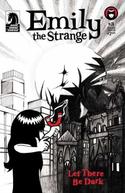 Bestselling Comics (2006) - Emily The Strange #3: The Dark Issue (Emily the Strange) by Cosmic Debris - Emily - The Strange - Dark - Shooting The Sun - Black And White