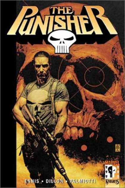 Bestselling Comics (2006) - The Punisher Vol. 1: Welcome Back, Frank by Garth Ennis - The Punisher - Skull - Rifle - Target - Ennis