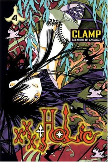 Bestselling Comics (2006) - xxxHOLiC, Vol. 4 (Xxxholic (Graphic Novels)) by Clamp - Clamp - Creator - Long Hair - Bird - Four