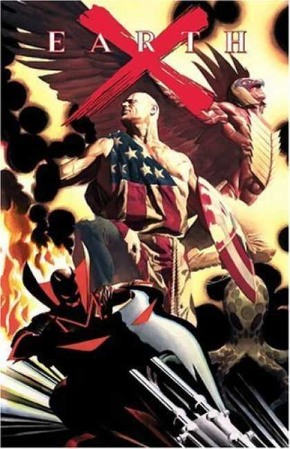 Bestselling Comics (2006) - Earth X HC by Alex Ross - Earth - X - Wings - Mask - American Flag