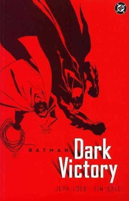 Bestselling Comics (2006) - Batman: Dark Victory by Jeph Loeb - Dark Victory - Batman - Red Cover - Two Man Standing Doun To Up - Tim Sale