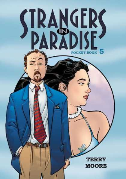 Bestselling Comics (2006) - Strangers In Paradise Pocket Book 5 (Strangers in Paradise (Graphic Novels)) by - Strangers In Paradise - Terry Moore - Rose Tattoo - Blue Suit - Pocket Book 5