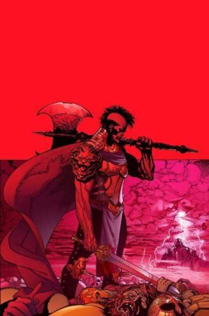 Bestselling Comics (2006) - Ares: God of War by Michael Avon Oeming - Red - Weapon - Pink - Lighting - Lion
