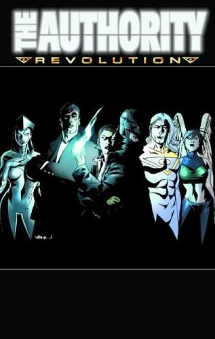 Bestselling Comics (2006) - Authority, The: Revolution - Book #2 (Authority (Graphic Novels)) by Ed Brubaker - The Authority - Revolution - White - Glowing - Wings