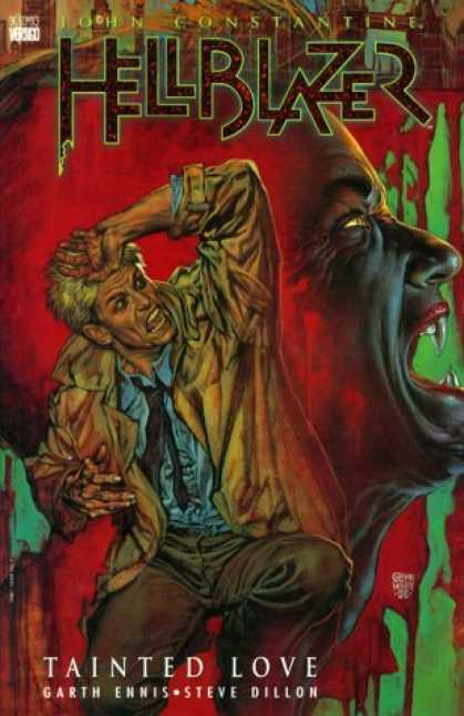 Bestselling Comics (2006) - Hellblazer: Tainted Love (Hellblazer (Graphic Novels)) by Garth Ennis - Vampire - Fangs - Tainted Love - Blood - Dillon