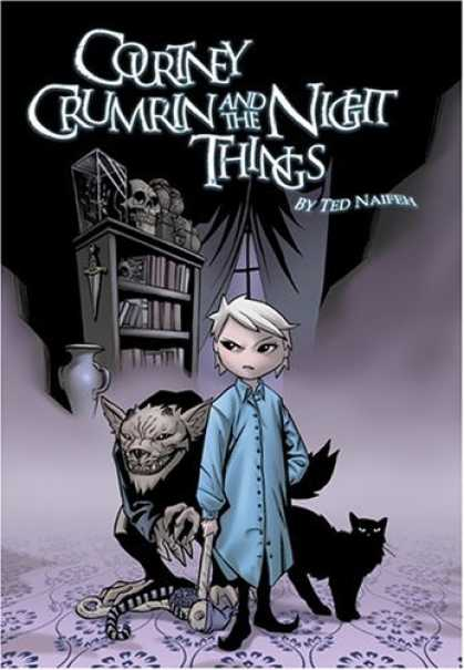 Bestselling Comics (2006) - Courtney Crumrin, Vol. 1: Courtney Crumrin & The Night Things (Courtney Crumrin - Bookcase - Skull - Cat - Wolf - Dagger