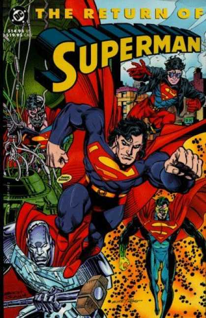 Bestselling Comics (2006) - The Return of Superman (Reign of the Supermen) by Dan Jurgens - Superman - Red Cape - Super Powers - Robot - Sledge Hammer